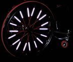 Spoke Reflectors for Your Wheelchair Tires
